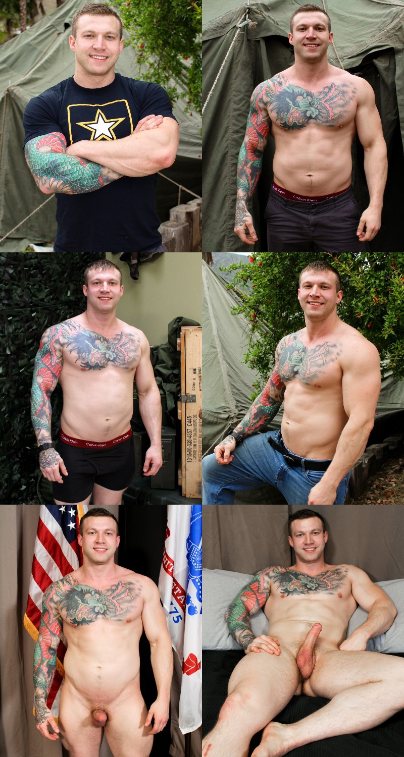 Dreamy Hunk Mike Johnson Empties His Balls at Active Duty