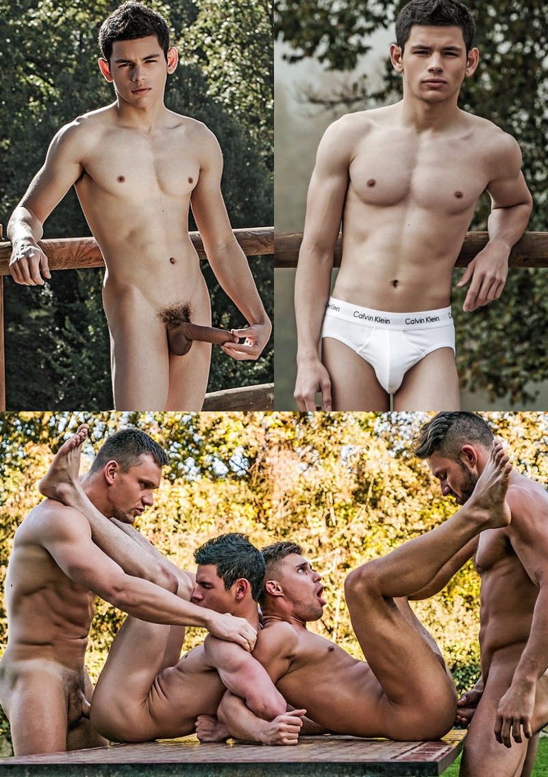 Porn Newbie Ricky Verez Debuts in Outdoor Fourgy