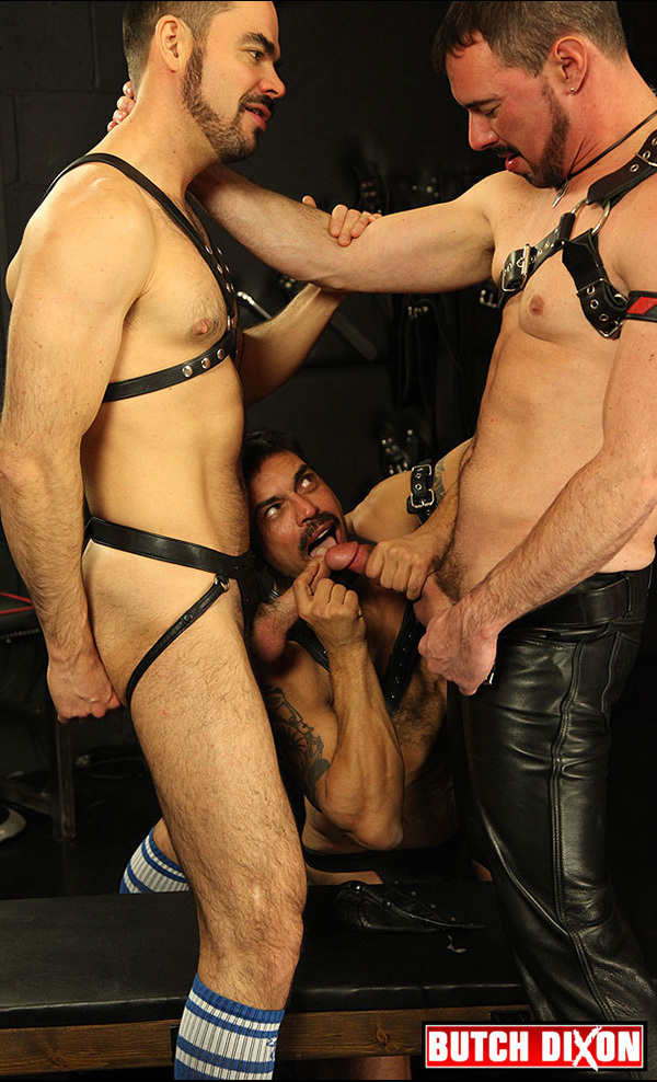 Butch Dixon Threesome with Double Penetration