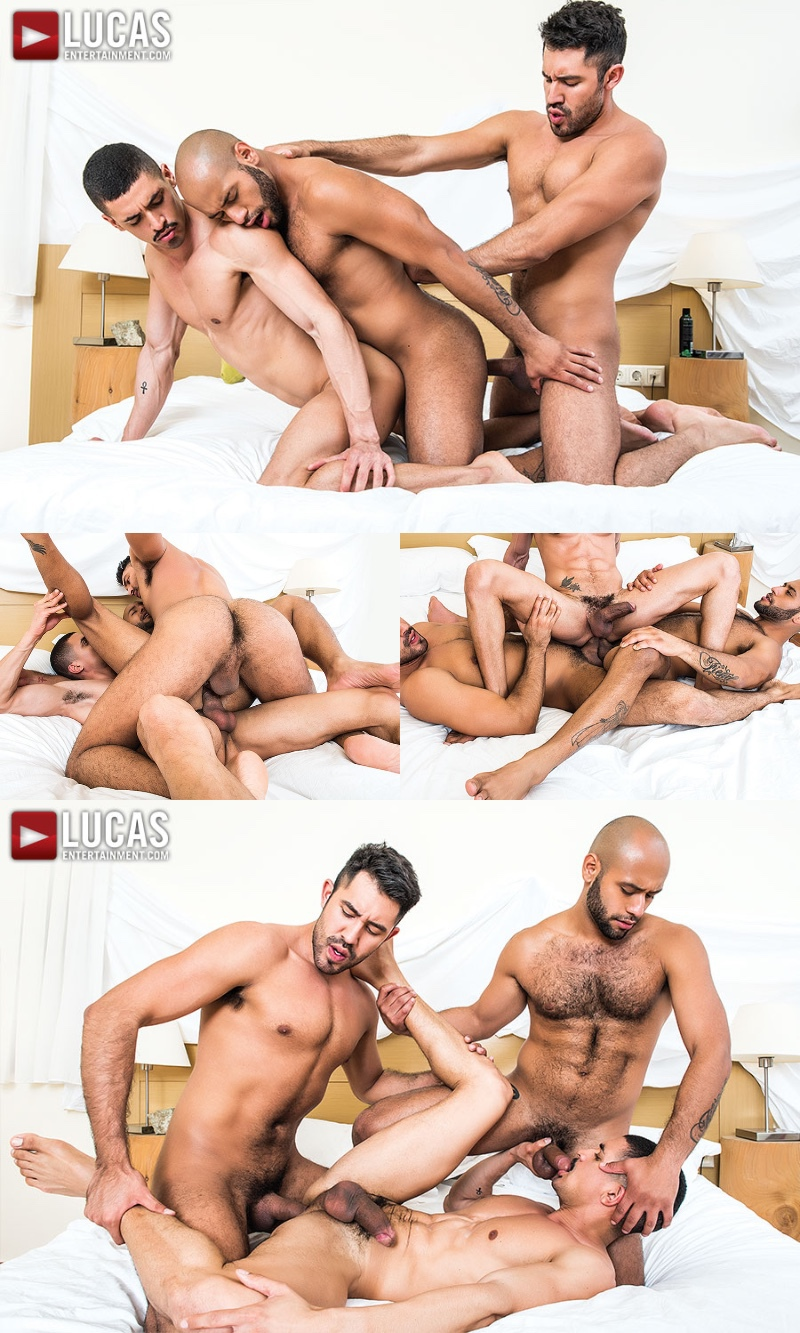 Double Penetration with Ibrahim Moreno, Leo Forte, & Gabriel Taurus