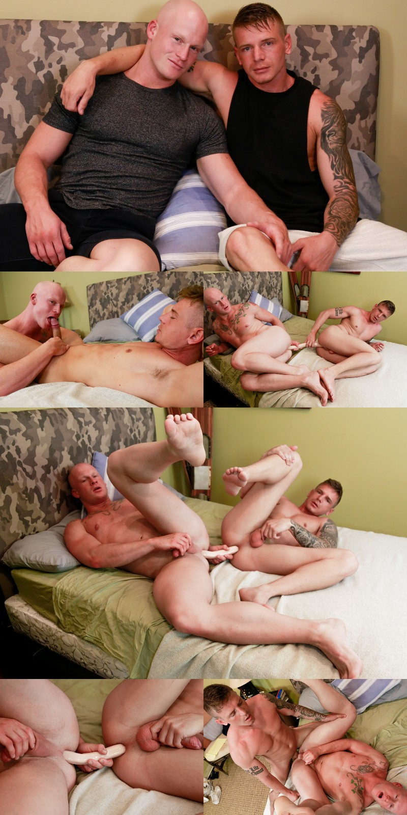 Roman Eros & Gunner Canon Share a Double-Headed Dildo