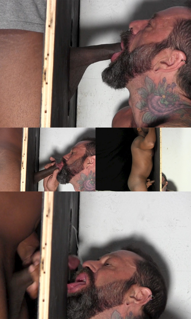 Big Black Dick at the Straight Fraternity Gloryhole