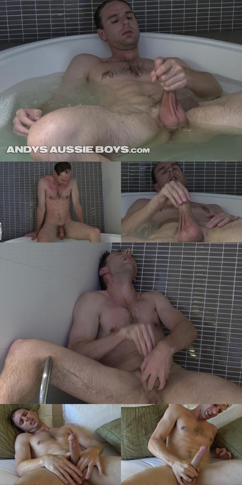 Hung Aussie & His Unique Jack-Off Technique