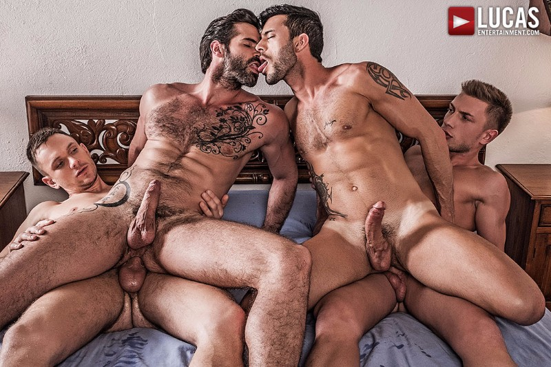Bareback Orgy with Russian Tops Bogdan Gromov & Andrey Vic
