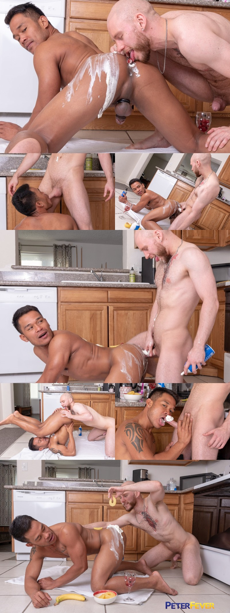 Lovers Fucking with Food on the Kitchen Floor