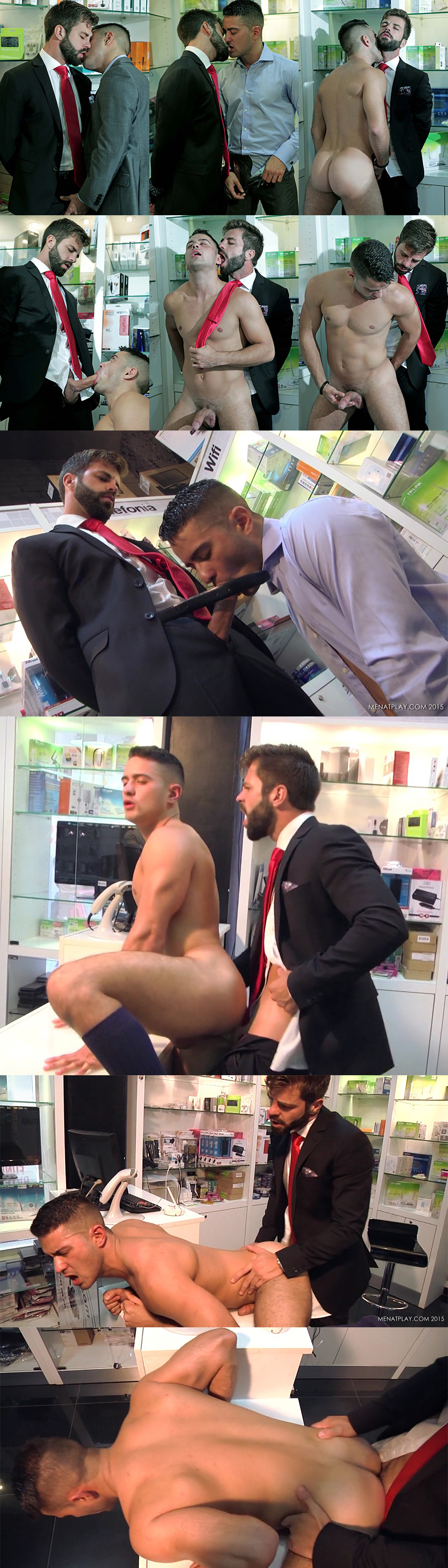 Robbie Rojo Bends Over the Store Counter Again