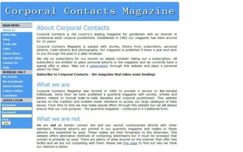 Corporal Contacts Magazine