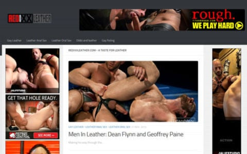 Gay leather porn videos. Gay men in leather.