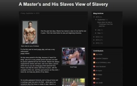A Master's View of Slavery