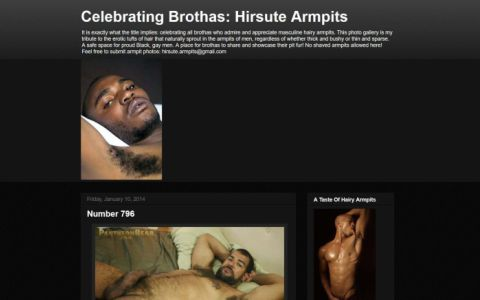 Celebrating Brothas: Hirsute Armpits