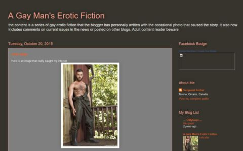 Gay Man's Erotic Fiction
