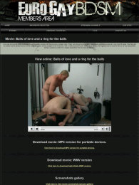 member area screenshot from Euro Gay BDSM
