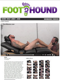 member area screenshot from Foot Hound