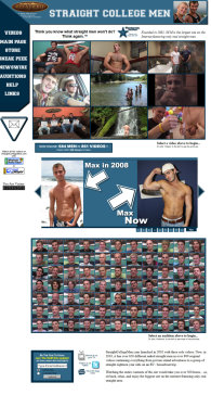 member area screenshot from Straight College Men