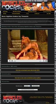member area screenshot from Muscled Cocks