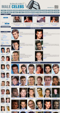 member area screenshot from Male Celebrities
