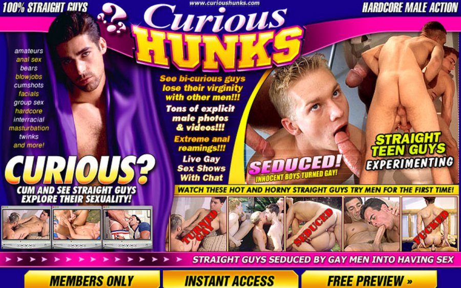 Curious Hunks tour page screenshot