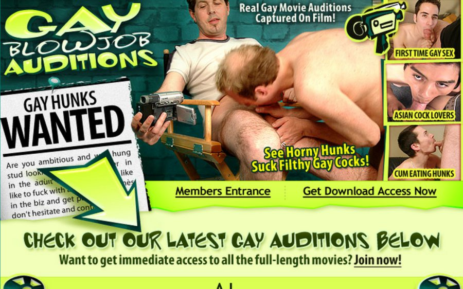 Gay Blowjob Auditions tour page screenshot