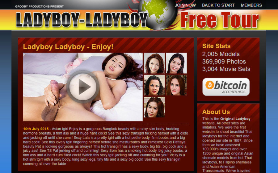 Ladyboy Ladyboy tour page screenshot
