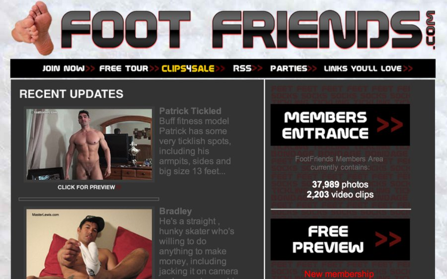 Foot Friends tour page screenshot