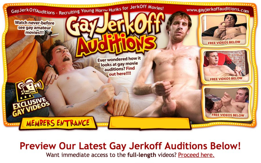 Gay Jerkoff Auditions tour page screenshot