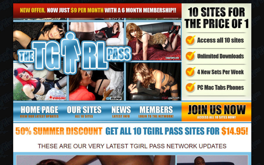 The Tgirl Pass tour page screenshot