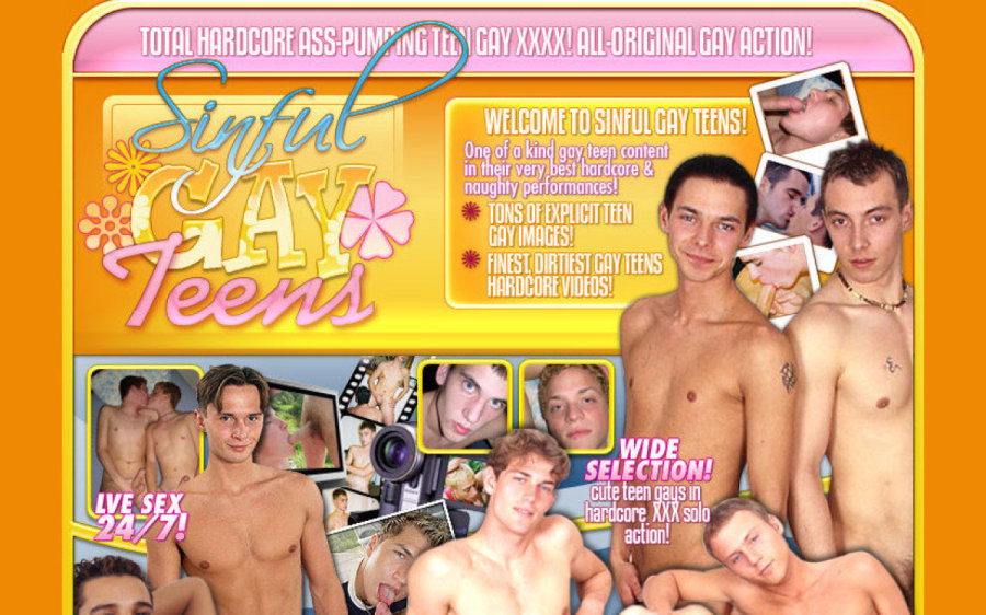 Sinful Gay Teens tour page screenshot