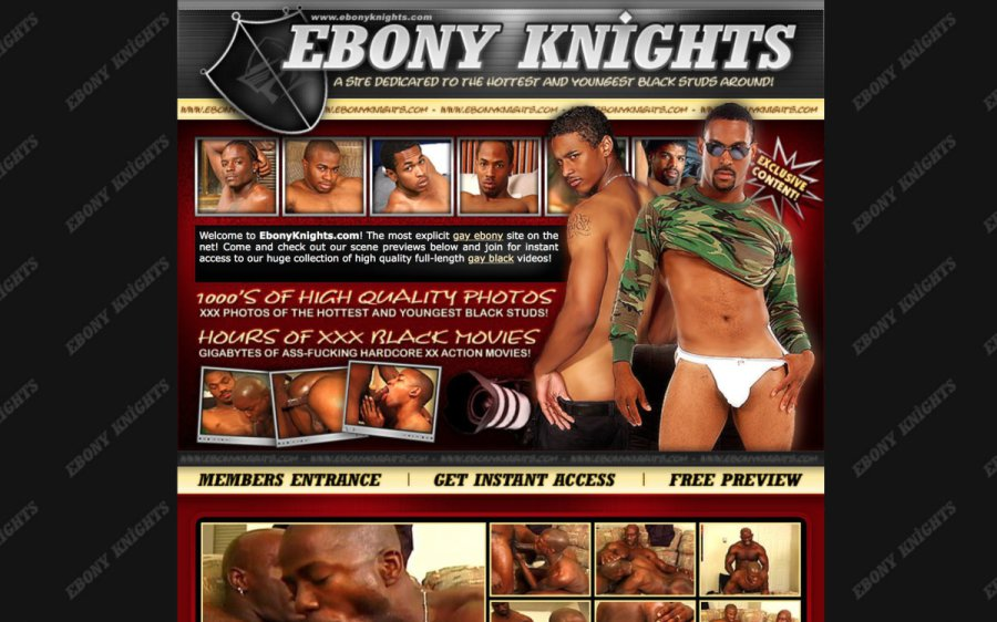 Ebony Knights tour page screenshot