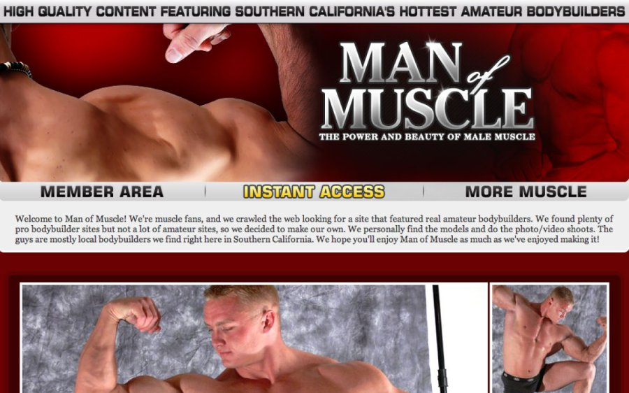 Man of Muscle tour page screenshot