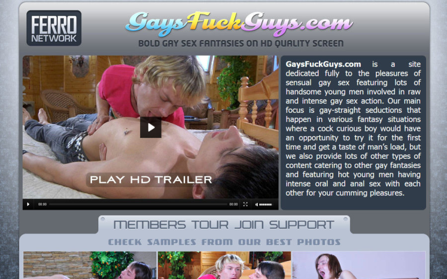 Gays Fuck Guys tour page screenshot