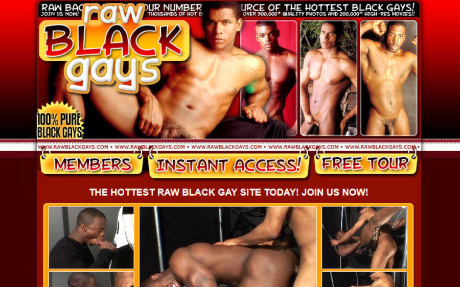 Raw Black Gays tour page screenshot