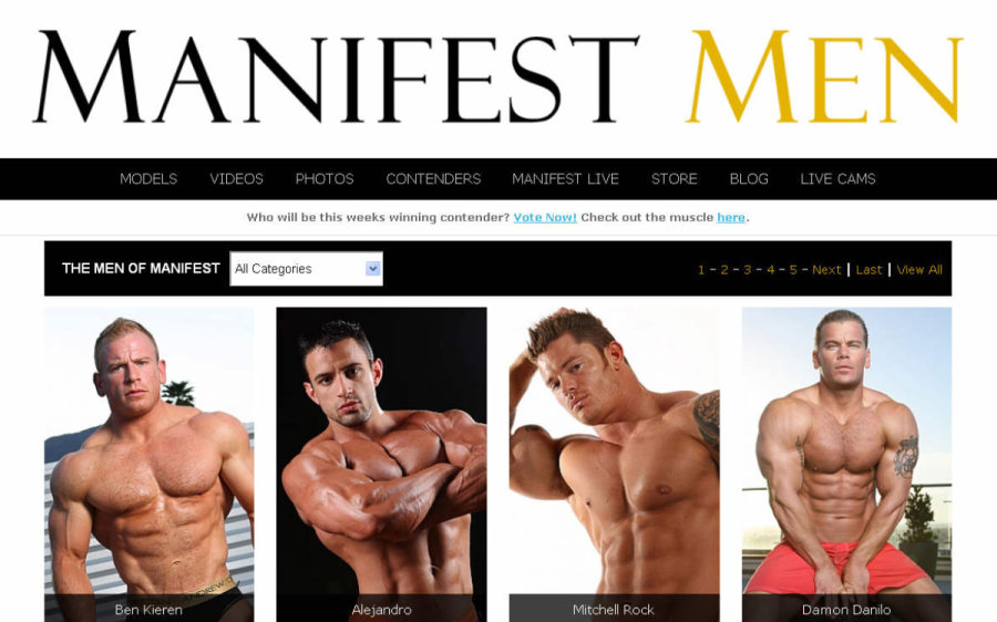 Manifest Men tour page screenshot