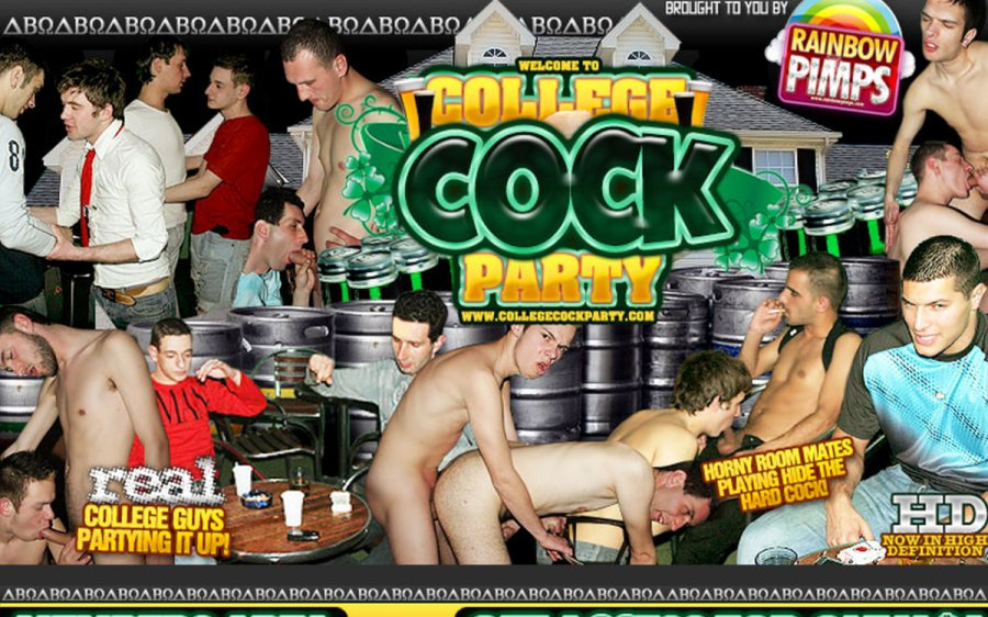 College Cock Party tour page screenshot