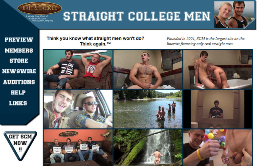 Straight College Men tour page screenshot