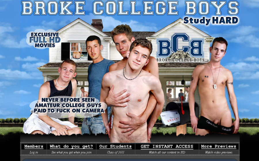 Broke College Boys tour page screenshot