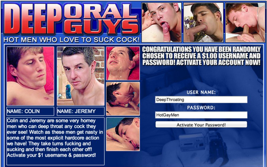 Deep Oral Guys tour page screenshot