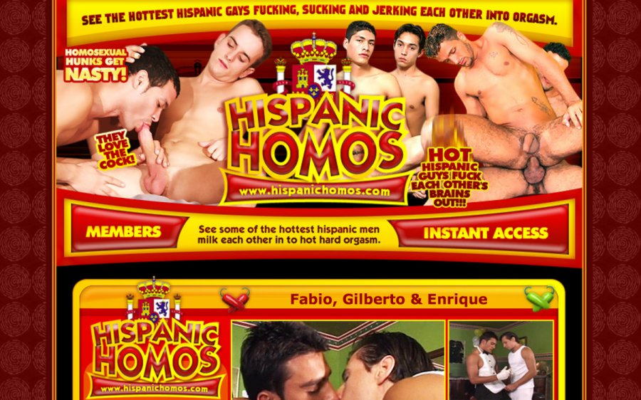 Hispanic Homos tour page screenshot