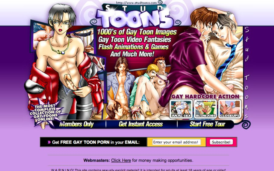 Stud Toons tour page screenshot
