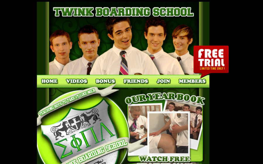 Twink Boarding School tour page screenshot