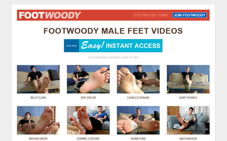 Foot Woody tour page screenshot