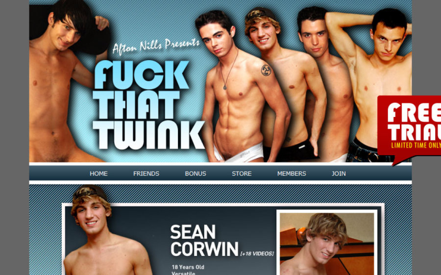 Fuck That Twink tour page screenshot