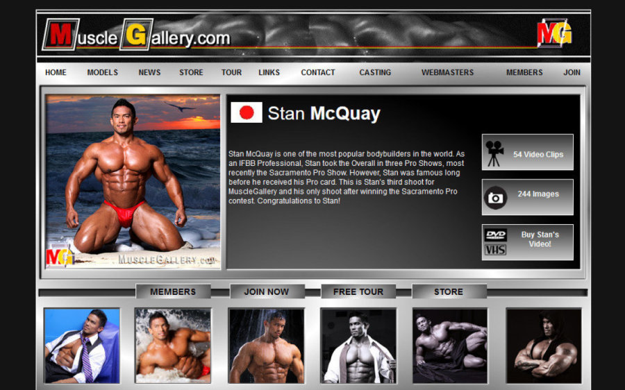 Muscle Gallery tour page screenshot