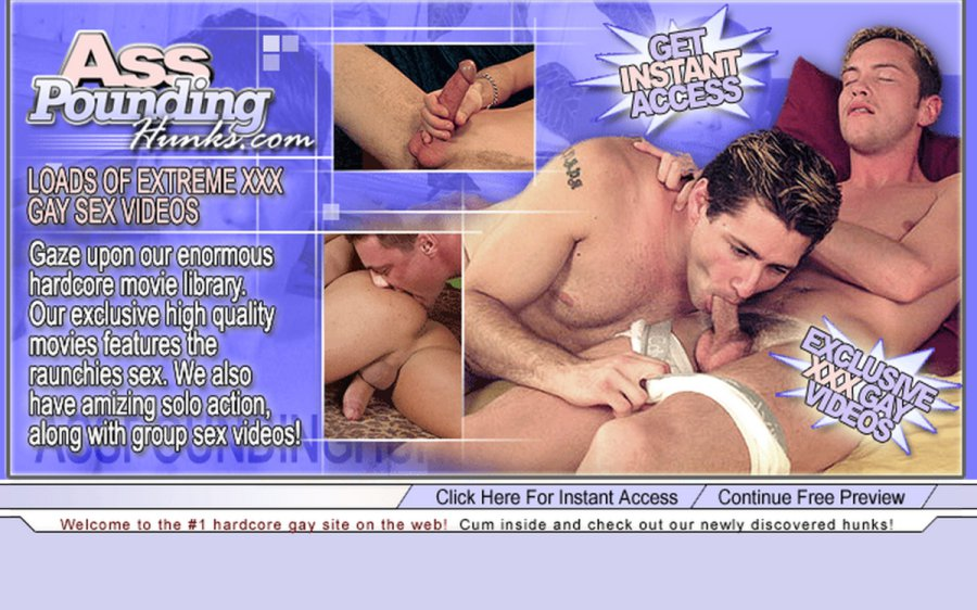 Ass Pounding Hunks tour page screenshot