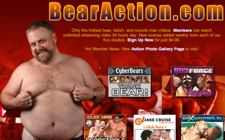 Bear Action tour page screenshot