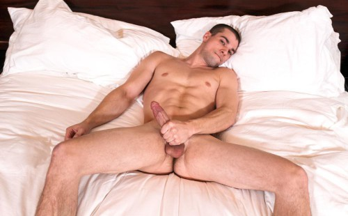Fit Young Lad Princeton Price Strokes His Big Cock