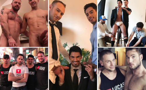 VIDS: Lee Santino, Dylan James, Drae Axtell, Ace Era on set
