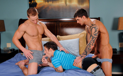Threesome with Marcus Mojo, Jimmy Clay & Tyler Torro!