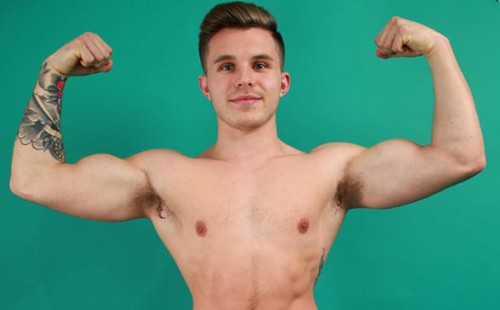 Athletic James Pendleton Showing Off His Muscles