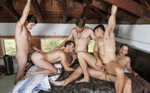 Colby and Will and Brandon and Addison and Roman In An Orgy