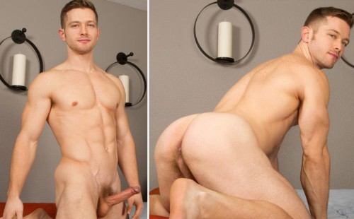 Gay Muscled Newbie Deacon Jacks His Uncut Dick